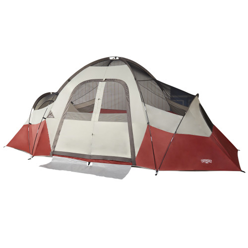 Wenzel Bristlecone 8 Person Dome Tent, red/white, shown with fly off