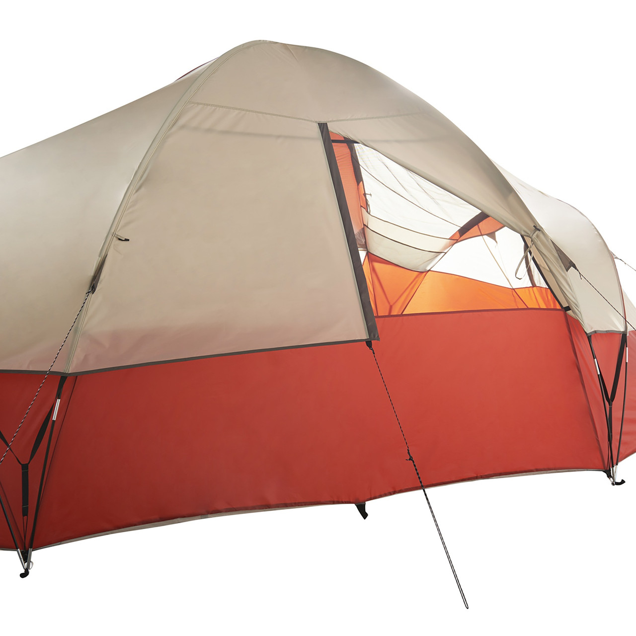 Wenzel Bristlecone 8 Person Dome Tent, showing rear window, partially closed