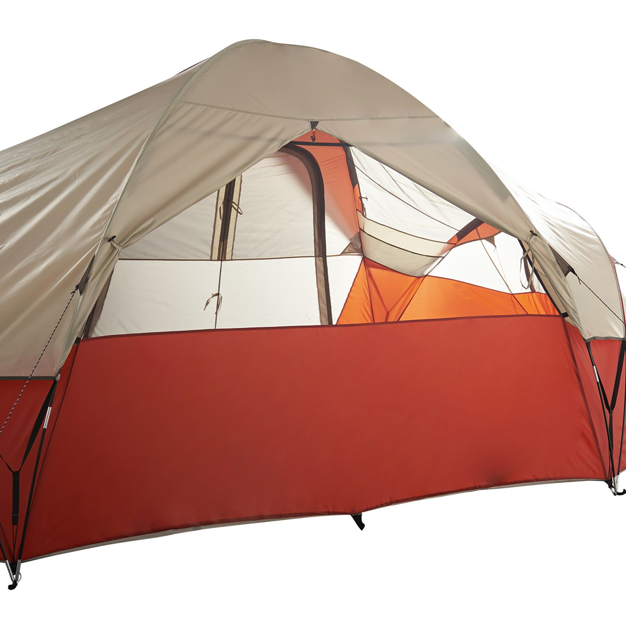 Wenzel Bristlecone 8 Person Dome Tent, showing rear window, opened