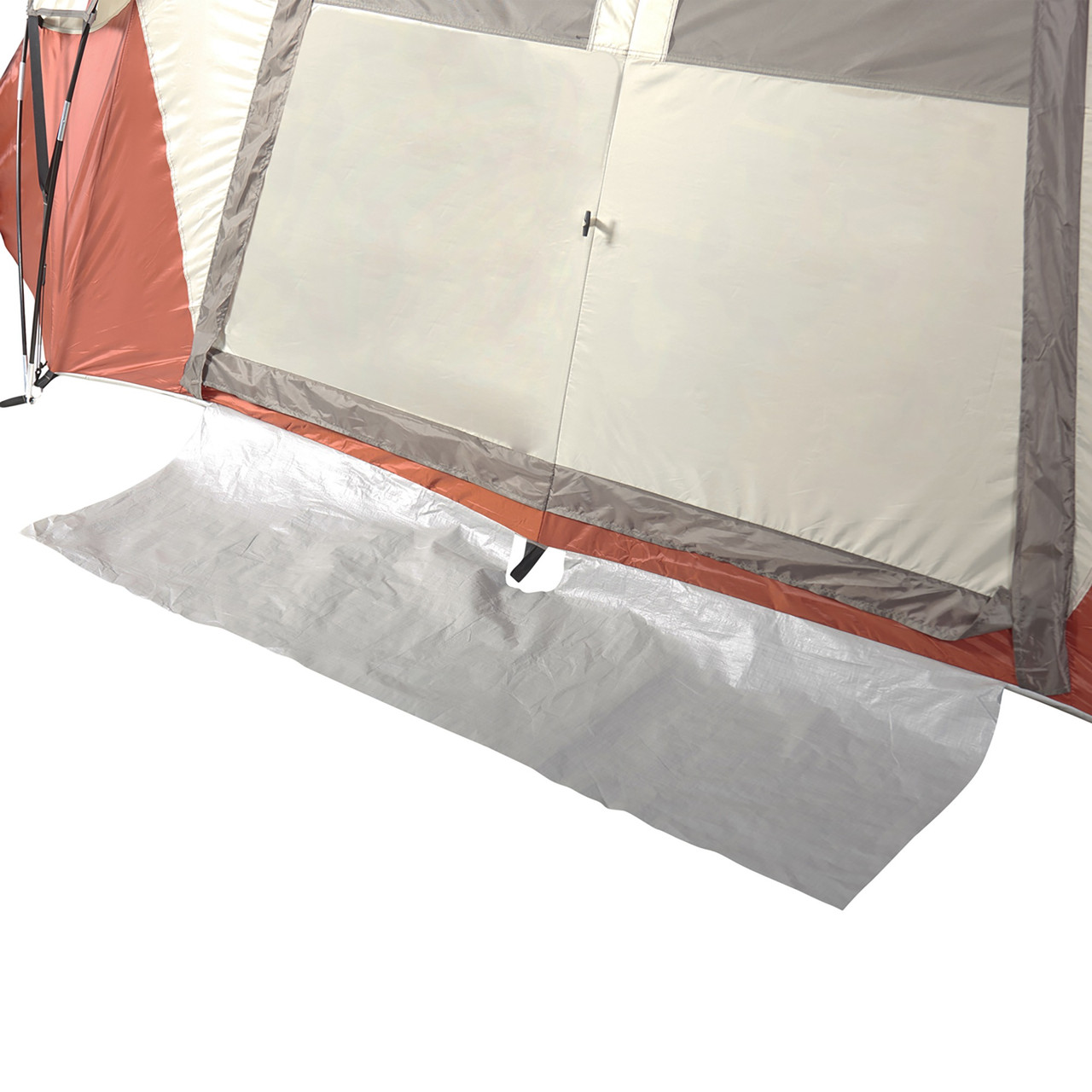 Close up of Wenzel Bristlecone 8 Person Dome Tent, showing floor mat