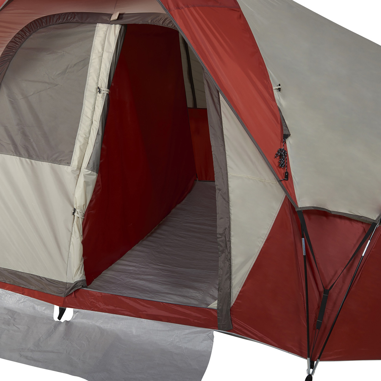 Wenzel Bristlecone 8 Person Dome Tent, showing front entrance