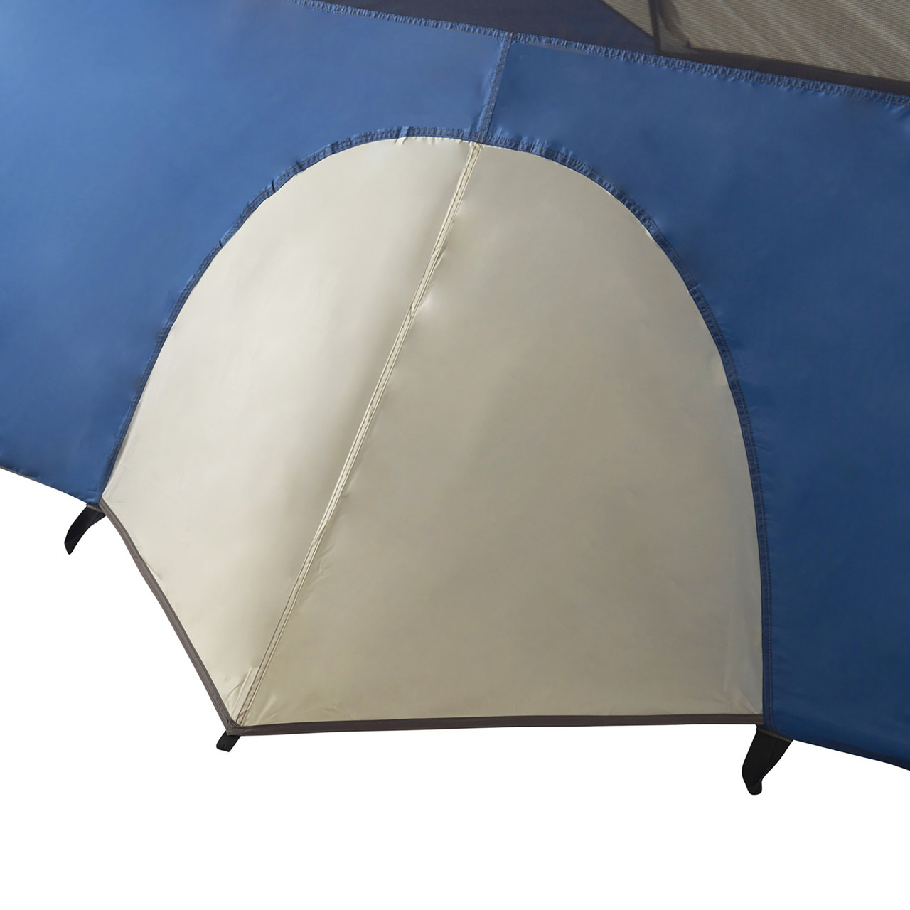 Close up of Wenzel Tamarack 6 Person Dome Tent, showing bottom of tent midpoint