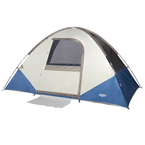 Wenzel Tamarack 6 Person Dome Tent, blue/white, shown without fly