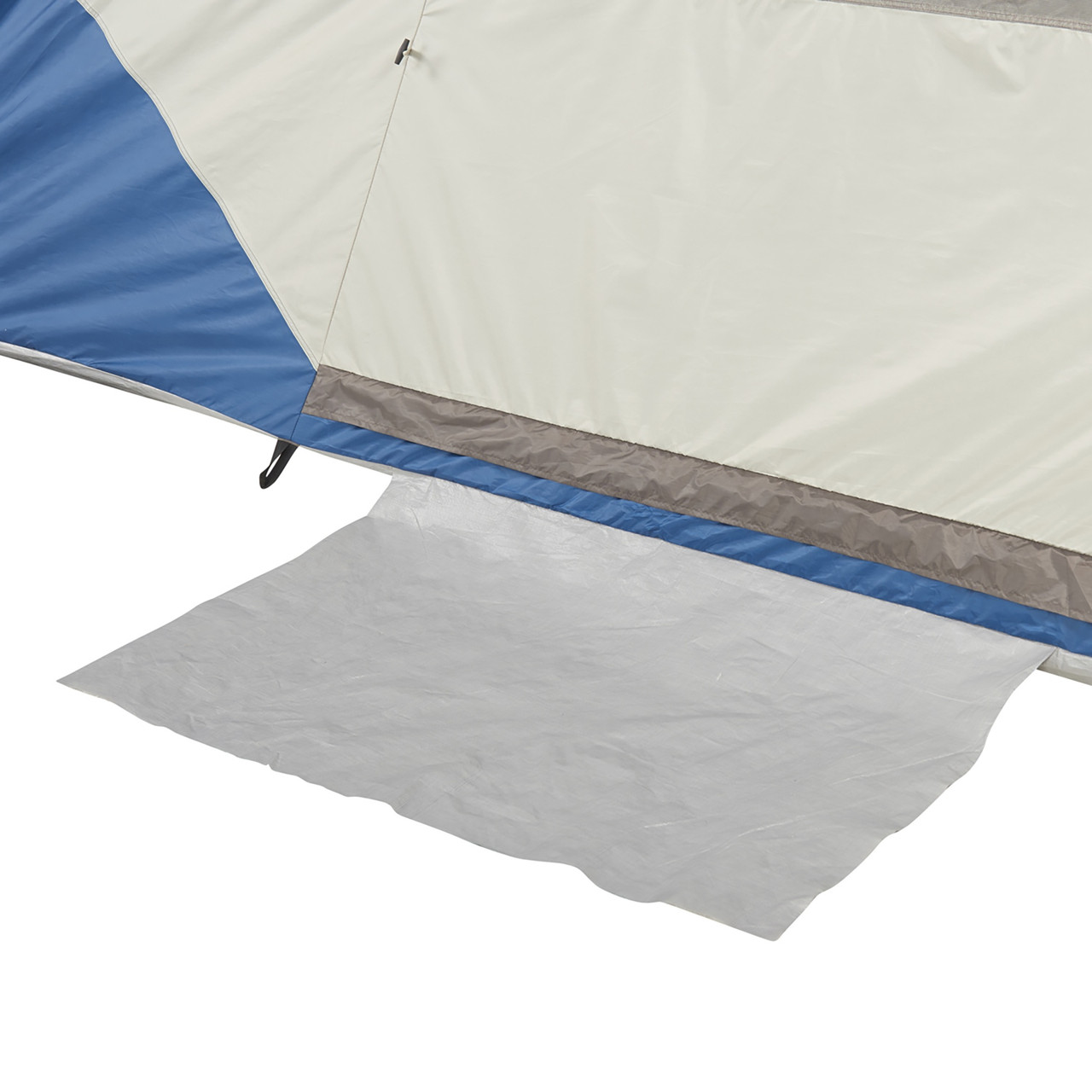 Close up of Wenzel Tamarack 6 Person Dome Tent, showing floor mat