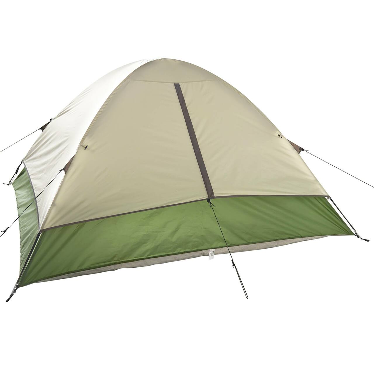 Wenzel Jack Pine 4 Person Dome Tent, green/white, rear view, with window