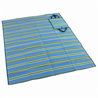 Wenzel Multi Mat, blue yellow green and orange stripes, laying flat fully extended
