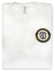 White Ring Spun Tee with Direct to Garment imprint