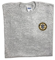 Gray T-Shirt with Embroidered PA Sheriff Logo on Left Chest