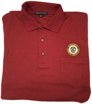 Burgundy polo shirt with pocket