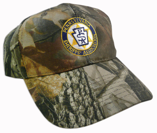 Front of cap embroidered with PA Sheriffs logo