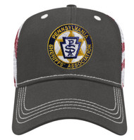 Embroidered with PA Sheriffs Association logo on the front.