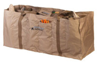 RIG'EM RIGHT WATERFOWL 12 SLOT FULL BODY DUCK DECOY BAG TAN