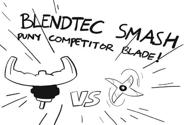 Illustration Compare for Blender Blade Bluntness. Titled