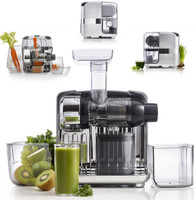 Omega Juice Cube and Nutrition System. Latest cold pressed slow juicing technology in Horizontal Category of Juicers. Clean and compact design makes this a must have for those seeking lastest and greatest technology in a smaller and attractive design. Once released it will be offered in a silver colour finish.