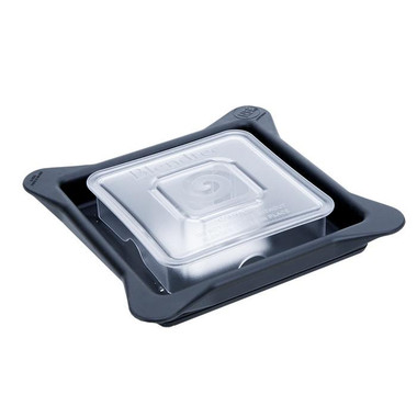 """Commercial Blendtec Gripper Lid with Venting Square Plug.  Made with rubber material  rather than hard plastic, also referred to as the """"soft lid"""" or """"soft vented gripper"""""""