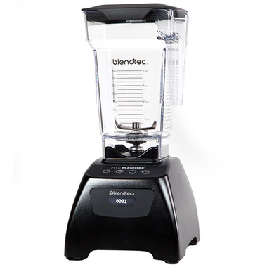 The Blendtec Fit blender in Black with FourSide Jar. A Classic Series Model. A commercial grade blender at a most  affordable price.