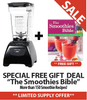 "Get the Blendtec Fit  with a FREE Recipe book:  ""The Smoothies Bible"". Get over 150 Delicious Smoothie Recipes to whip up in your new Fit today! *****SALE DEAL: Low Price + Free Recipes Book + Free Shipping! ******"