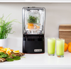High Powered Blender done quieter by sound enclosing dome. Quiet enough to have a normal conversation when running.  Operating at the sound level of normal conversation, the Professional 800 is the quietest, most capable blender in the world.