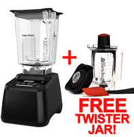 Designer 625 in Black finish with WildSide+ blending jar AND FREE TWISTER JAR!  ** ONLY WHILE SUPPLIES LAST **