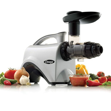The NC800 6th Generation Nutrition Center Juicer is more than a Premium Low Speed, Masticating Juicer! It is also a Nutrition System that is a super versatile multi-purpose appliance! Yes you can make amazing juice, but you can also make sauces, sorbets, nut butters, baby food, grind coffee beans, seeds, nuts, spice and more! See demonstration video below showing the making fresh delicious salsa with the Omega NC800!