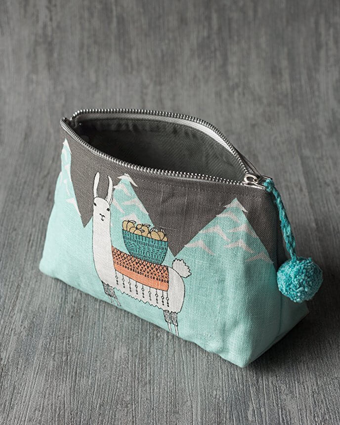 Llamarama Cosmetic Bag - Small | Mama Bath + Body