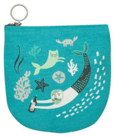 Sea Spell Halfmoon Pouch | Mama Bath + Body