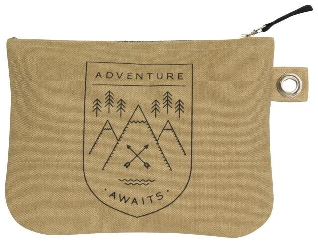 Adventure Awaits Zip Pouch - Large   Mama Bath + Body