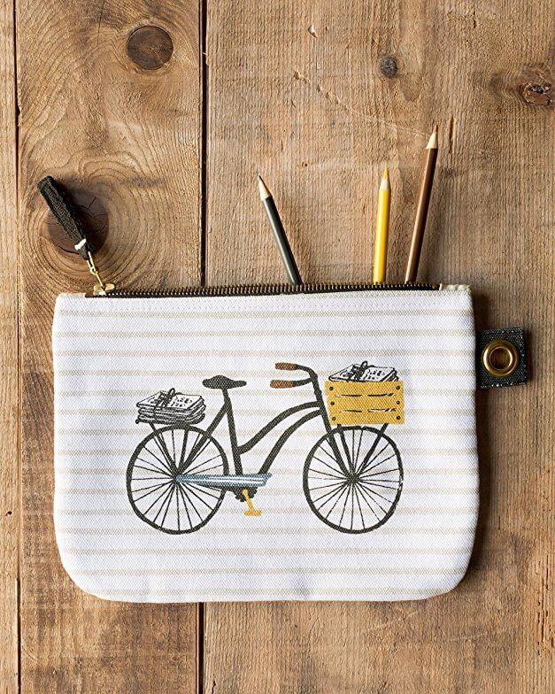 Bicicletta Zip Pouch - Large | Mama Bath + Body