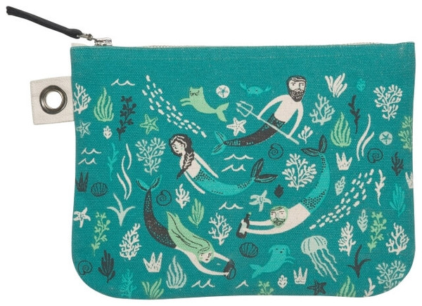 Sea Spell Zip Pouch - Large | Mama Bath + Body