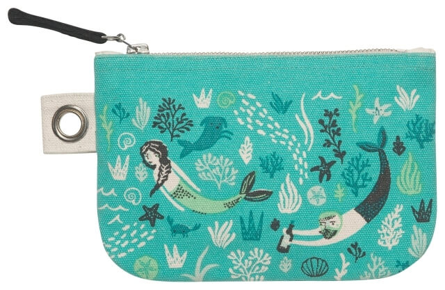 Sea Spell Zip Pouch - Small | Mama Bath + Body
