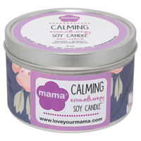 Lavender + Geranium (Calming) 6 oz. Soy Candle Tin | Mama Bath + Body