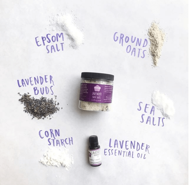 Lavender Bath Salts Jar | Mama Bath + Body