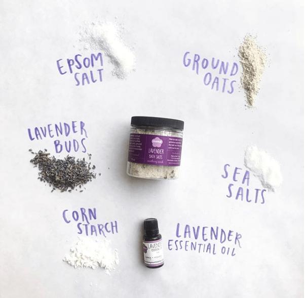 Lavender Bath Salts Jar | Mama Bath + Body