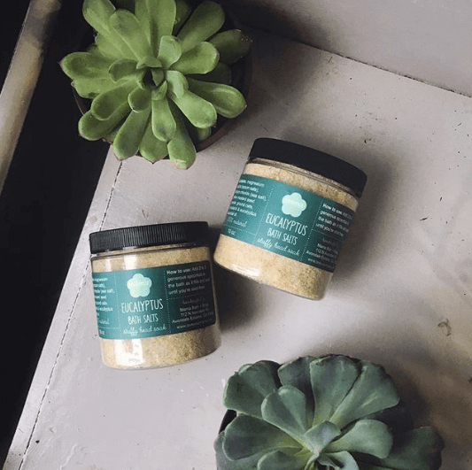 Eucalyptus Bath Salts Jar | Mama Bath + Body