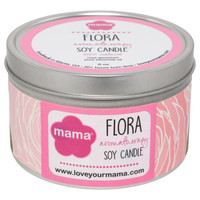 Flora - Rose Geranium 6 oz. Soy Candle Tin | Mama Bath + Body