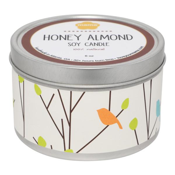 Honey Almond 6 oz. Soy Candle Tin | Mama Bath + Body