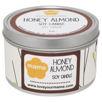 Honey Almond 6 oz. Soy Candle Tin | Mama Bath + Body