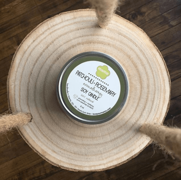 Patchouli + Rosemary (Karma) 6 oz. Soy Candle Tin | Mama Bath + Body