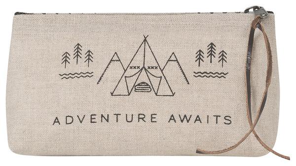 Adventure Awaits Cosmetic Bag - Pencil