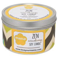 Lemongrass + Ginger (Zen) 6 oz. Soy Candle Tin | Mama Bath + Body