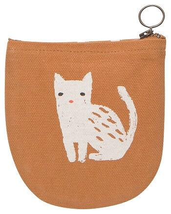 Cat Halfmoon Pouch | Mama Bath + Body