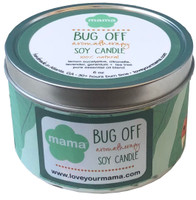 Bug Off Soy candle tin - burns 30 hours