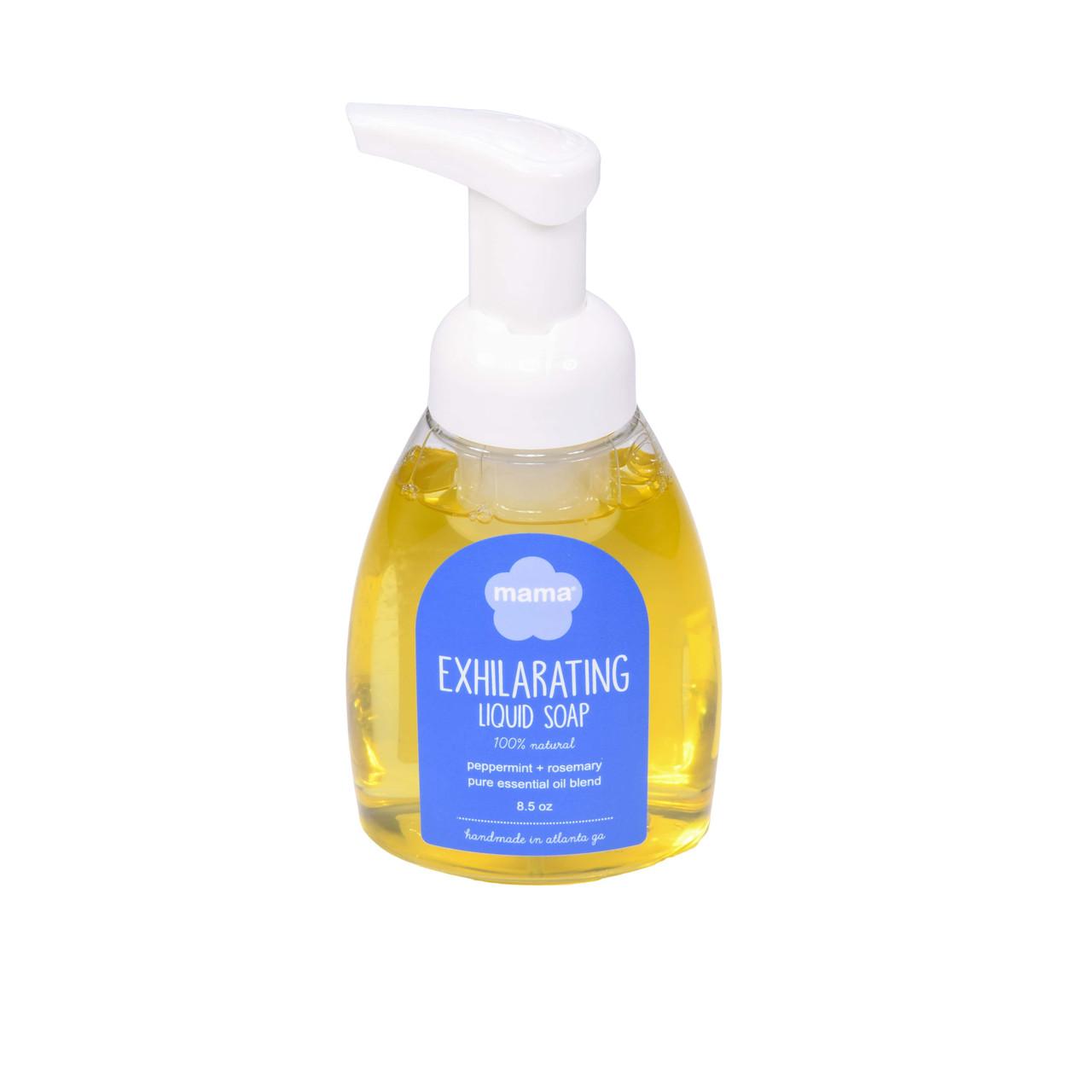 Exhilarating (Peppermint + Rosemary) Liquid Soap   Mama Bath + Body