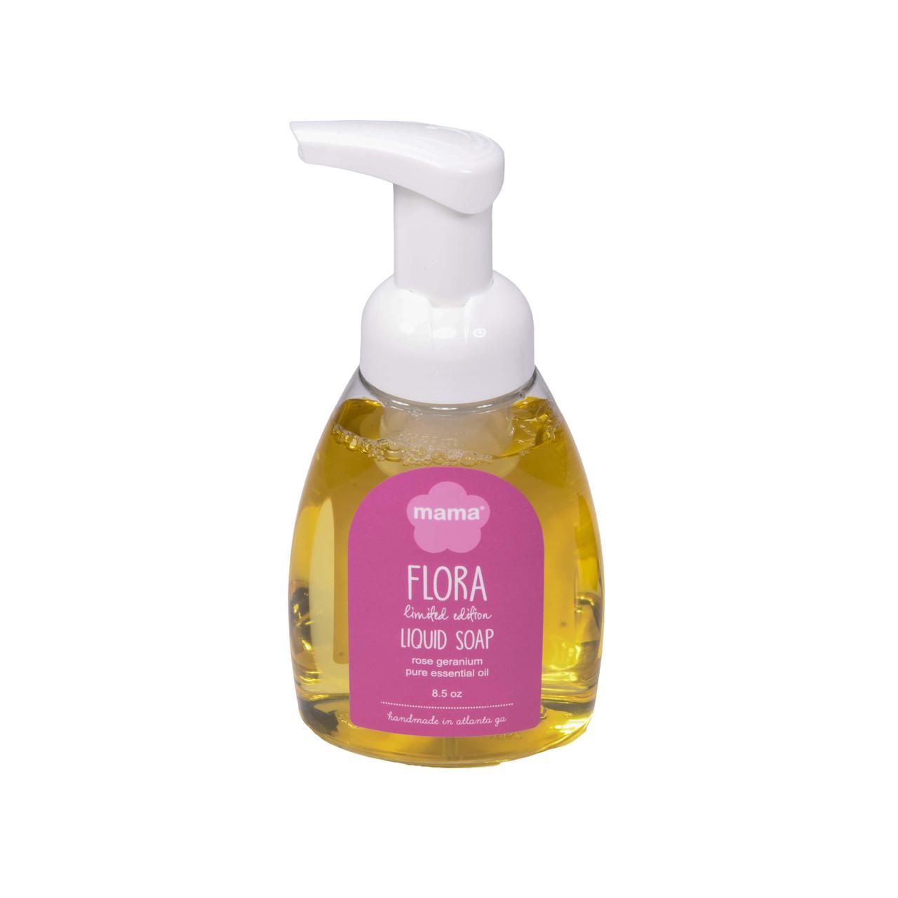 Flora (Rose Geranium) Liquid Soap | Mama Bath + Body