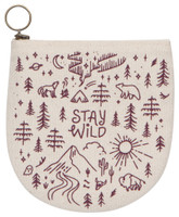 Stay Wild Halfmoon Pouch | Mama Bath + Body