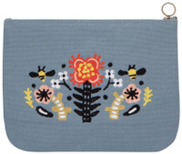 Frida Zip Pouch - Large | Mama Bath + Body