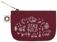Stay Wild Zip Pouch - Small | Mama Bath + Body