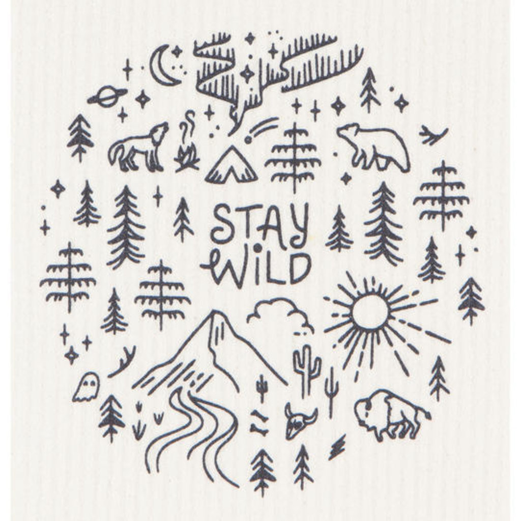 Stay Wild Swedish Dishcloth | Mama Bath + Body