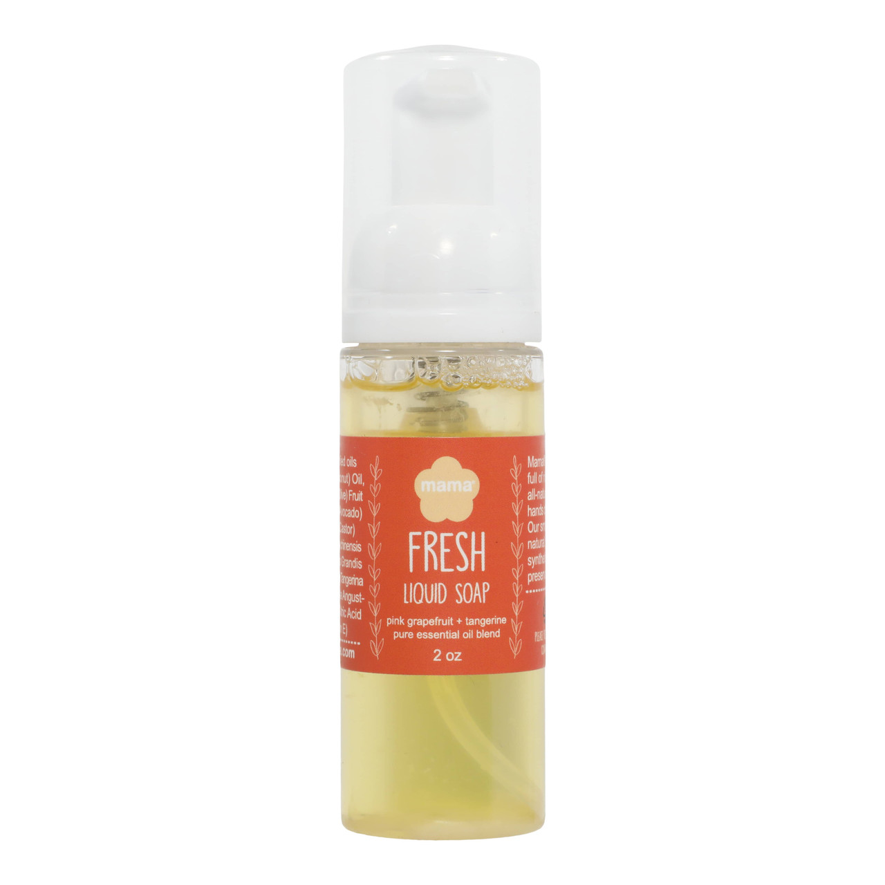 Fresh (Grapefruit + Tangerine) Travel Size Liquid Soap | Mama Bath + Body