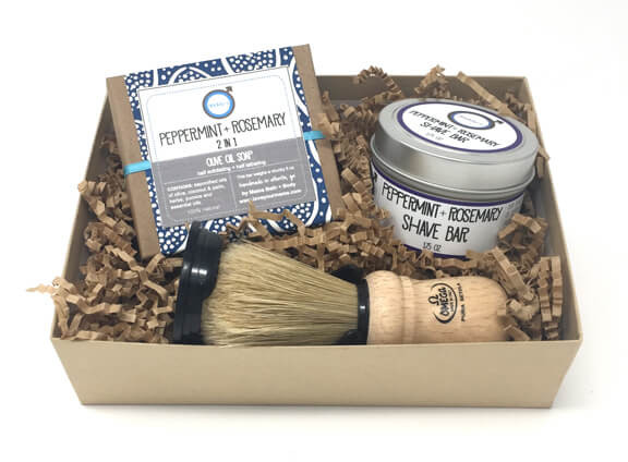 Daddy-O Peppermint + Rosemary Shave Kit | Mama Bath + Body